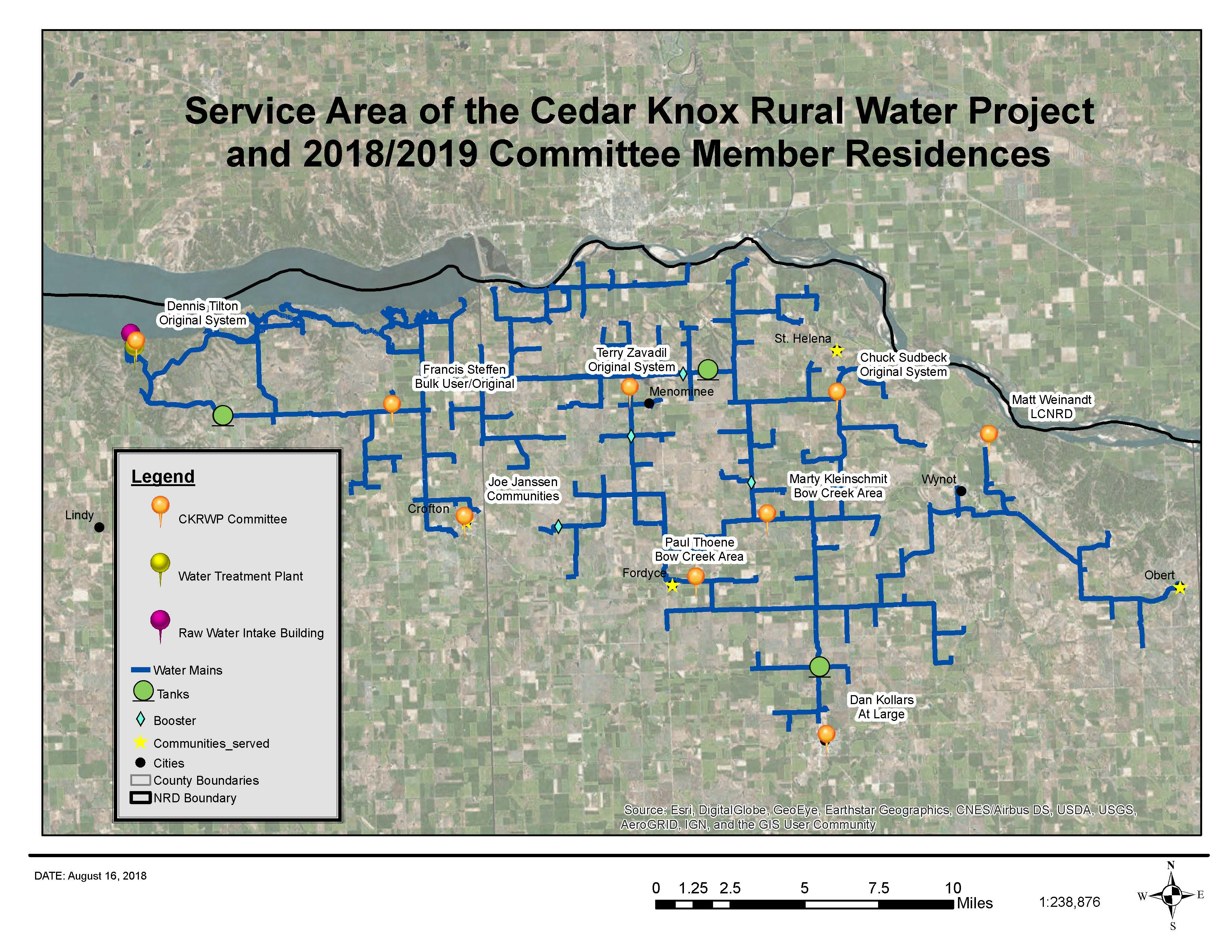 CKRWP Service Area Map with RW Advisory Committee