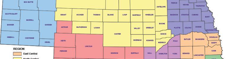 Nebraska Land Judging Regions