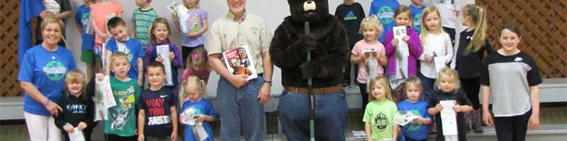 Smokey Bear visits Learning Tree Preschool Students